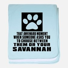Awkward Savannah Cat Designs baby blanket