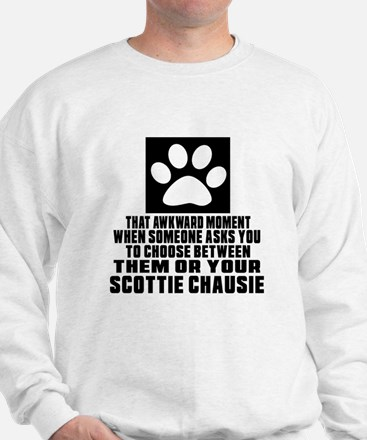 Awkward Scottie chausie Cat Designs Sweatshirt