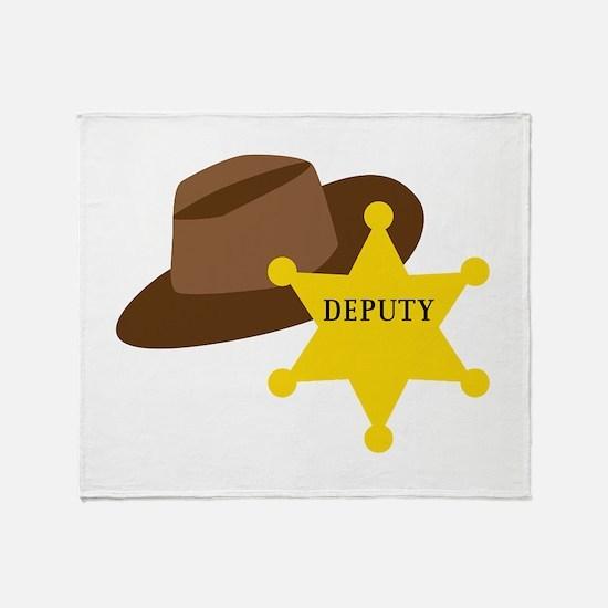Deputy Hat Throw Blanket