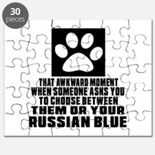 Awkward Russian Blue Cat Designs Puzzle
