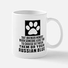 Awkward Russian Blue Cat Designs Mug