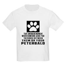 Awkward Peterbald Cat Designs T-Shirt
