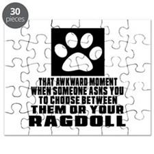 Awkward Ragdoll Cat Designs Puzzle