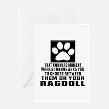 Awkward Ragdoll Cat Designs Greeting Card