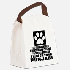 Awkward Punjabi Cat Designs Canvas Lunch Bag