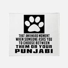Awkward Punjabi Cat Designs Throw Blanket