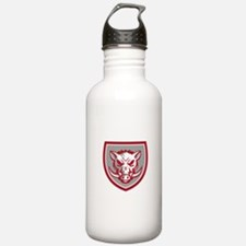 Wild Boar Razorback Head Angry Shield Retro Water