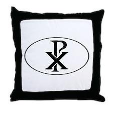 Christ Monogram Throw Pillow