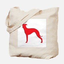 Greyhound Two Red 1C Tote Bag