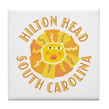 Hilton Head Sun -  Tile Coaster