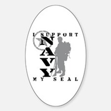 Seal Proudly Serves - NAVY Oval Decal