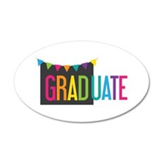 Graduate Flags Wall Decal