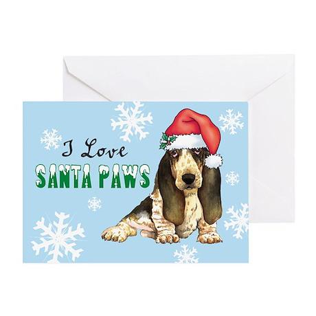 Holiday Basset Greeting Card