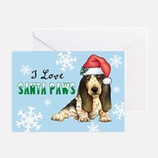 Holiday Basset Greeting Card