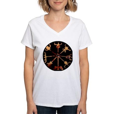 Vegvisir Eyes Women's V-Neck T-Shirt