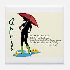 April Tile Coaster
