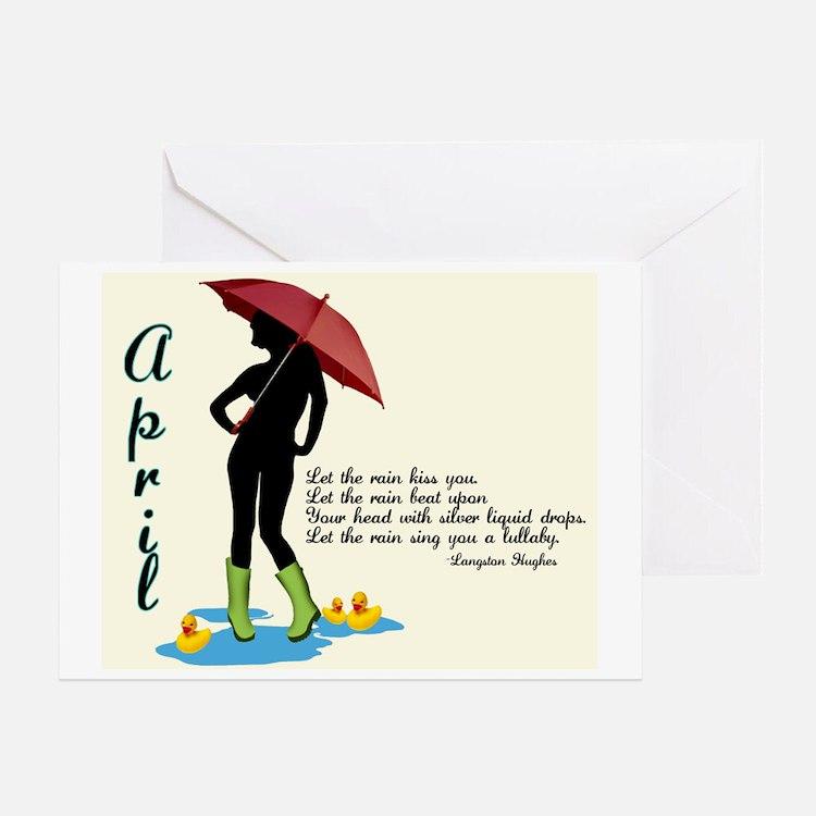 April Greeting Card