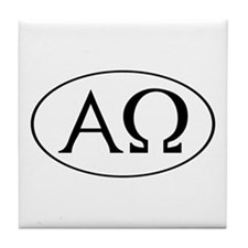 Alpha and Omega Tile Coaster