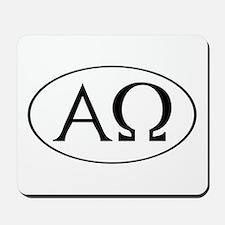 Alpha and Omega Mousepad