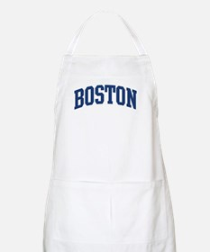 BOSTON design (blue) BBQ Apron