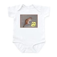Will work 4 food prairie dog Infant Bodysuit