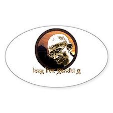 Long Live Gandhi G Oval Decal