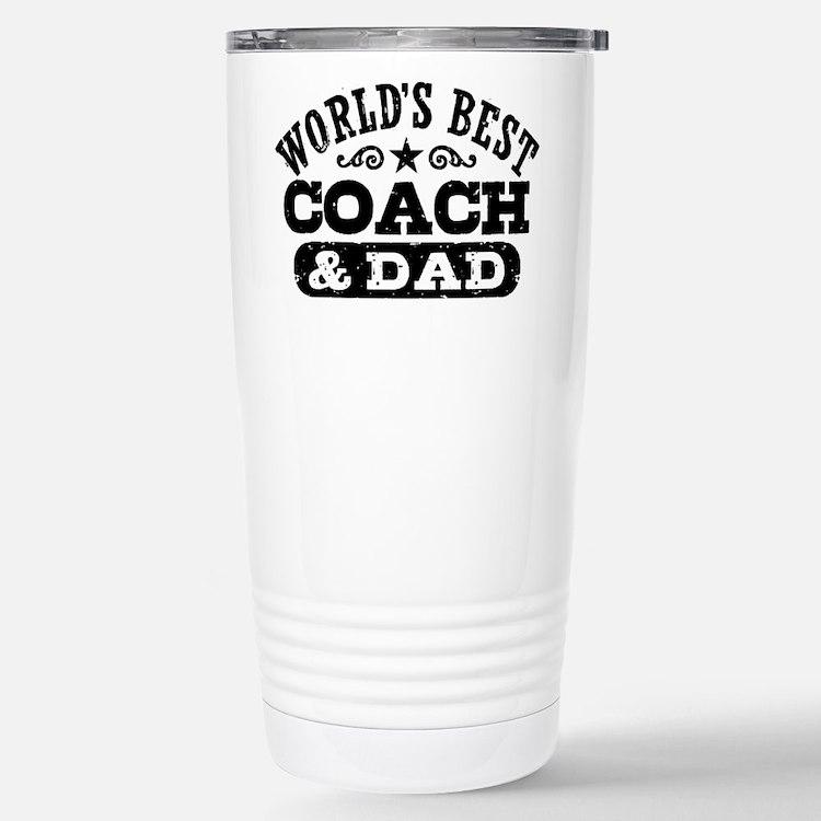 Cute Dad best coach Travel Mug