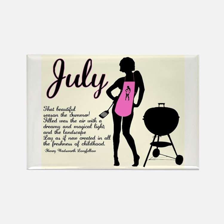 July Rectangle Magnet (100 pack)