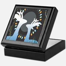 Cool Deer glass Keepsake Box