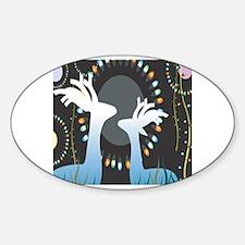 Deer glass Sticker (Oval)