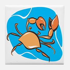 Cute Crab charm Tile Coaster