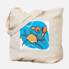Cute Crab charm Tote Bag