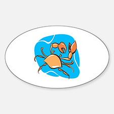 Cute Crab charm Sticker (Oval)