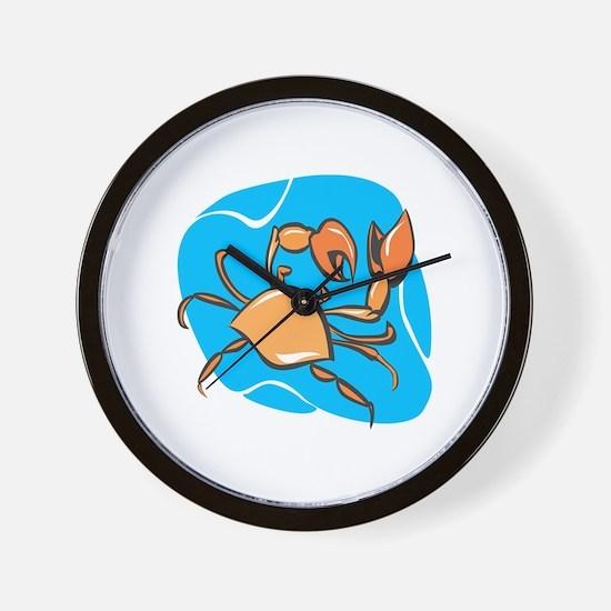 Cute Crab charm Wall Clock