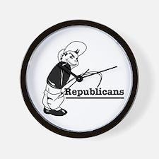 Piss on Republicans Wall Clock