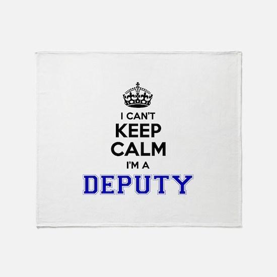DEPUTY I cant keeep calm Throw Blanket