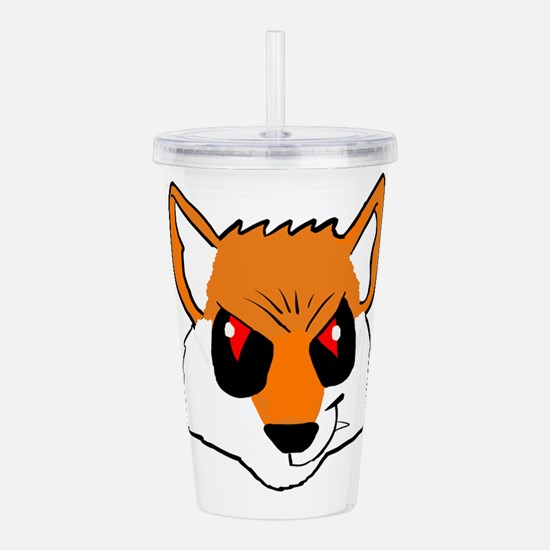 Evil Fox Acrylic Double-wall Tumbler