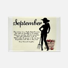 September Rectangle Magnet (100 pack)
