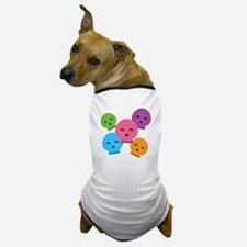 Colorful Skulls Dog T-Shirt