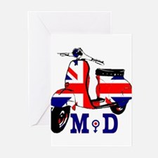 Mods Scooter Greeting Cards