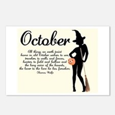 October Postcards (Package of 8)