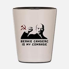 Bernie Sanders Is My Comrade Shot Glass