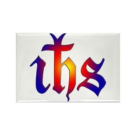 IHS (Jesus Monogram) Rectangle Magnet