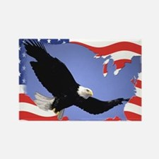 USA flag freedom Rectangle Magnet