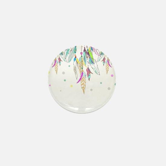 Dreamcatcher Feathers Mini Button