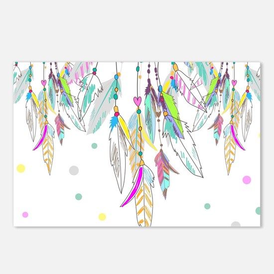 Dreamcatcher Feathers Postcards (Package of 8)