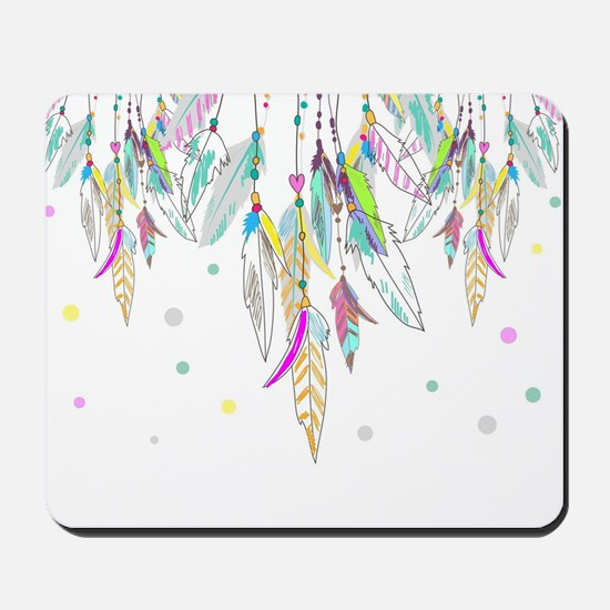 Dreamcatcher Feathers Mousepad