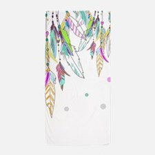 Dreamcatcher Feathers Beach Towel