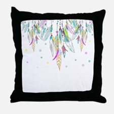 Dreamcatcher Feathers Throw Pillow