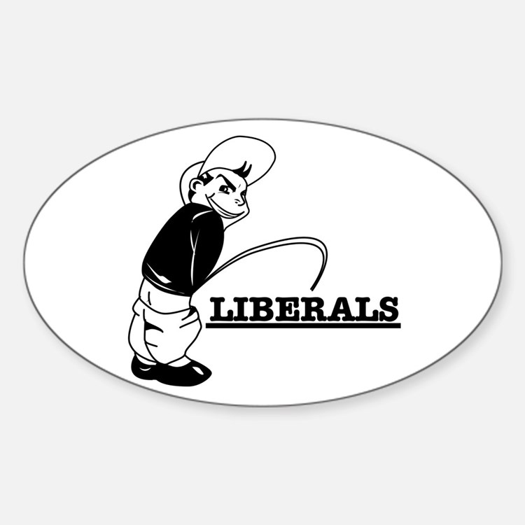 Piss on Liberals Oval Decal